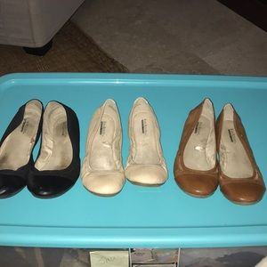 3 Pairs of Well Loved Flats
